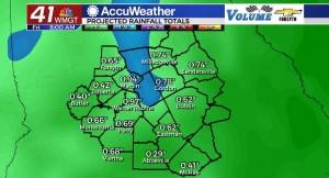 Forecast Rain Totals Through 9 16