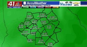 Forecast Rain Totals Through 9 15